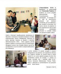 volontariato studenti stranieri Associazione DiVo